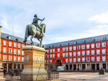 Day 1, Madrid, Plaza Mayor with Statue of King Filipe III
