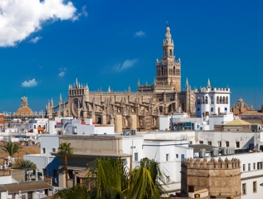 Day 1, Seville, View with Cathedra and Giralda Tower